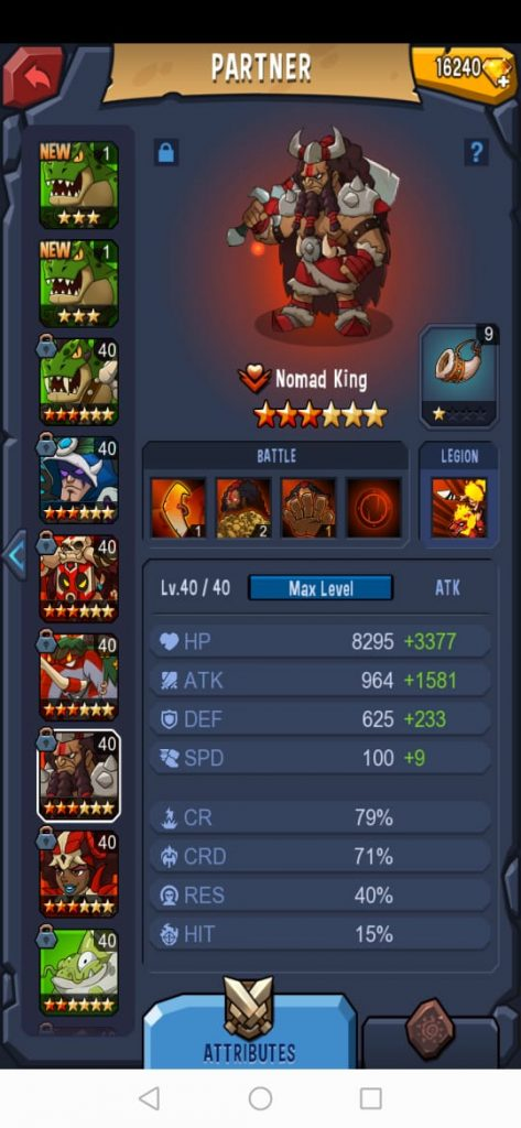 Red Nomad King Team Combination (Line Up) - Brutal Age Guide